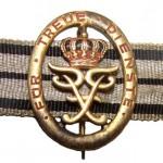 Hohenzollern-Brosche-Treue-Dienste-Gold-1