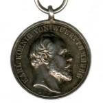 Wuerttemberg-Zivilverdienst-Medaille-Silber-Koenig-Karl-1